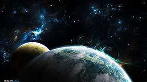 Colorful Galaxy Planets and Stars - Pics about space