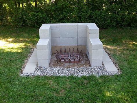 outdoor pit furniture simple cinder block pit
