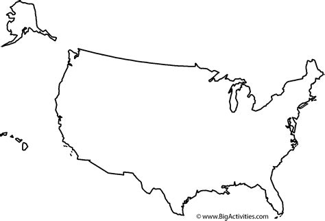 map   united states  title coloring page