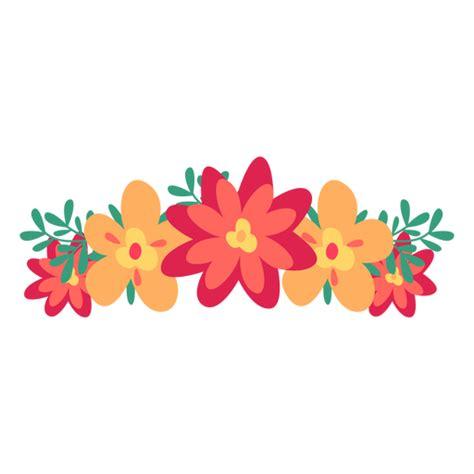 Orange red flower crown png Red flower crown Flower art