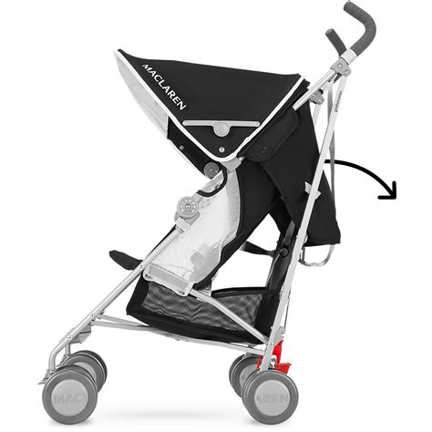 Maclaren Reclining Umbrella Stroller by Maclaren 2016 2017 Globetrotter Stroller Black White