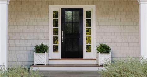 black front door ideas    curb appeal pella windows doors