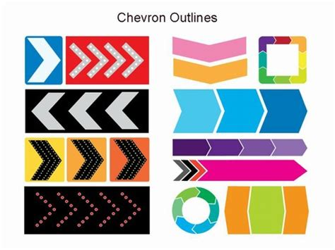 chevron outlines template