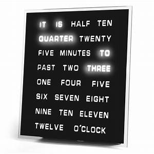 LED Word Clock - Displays Time As Text - The Green Head