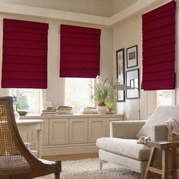 roman shades red blinds shades  window jcpenney