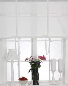 Shabby Chic Gardinen : julia off white raffrollo 160x120cm leinenoptik raffgardine landhaus shabby chic in m bel ~ Eleganceandgraceweddings.com Haus und Dekorationen