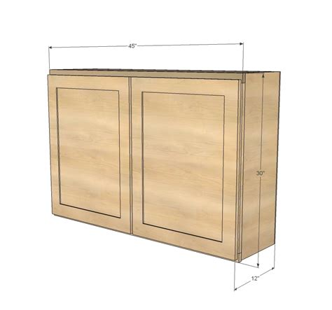 ana white  wall kitchen cabinet diy projects