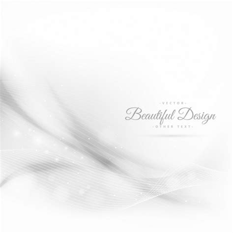 All White Background Abstract Wave White Background With Lines Vector Free