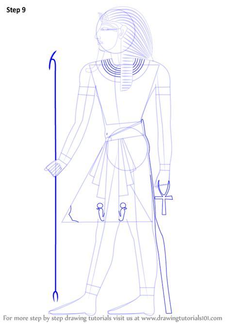 step  step   draw  pharaoh drawingtutorialscom