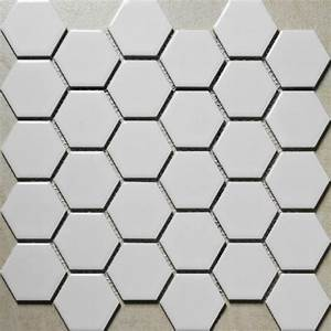 Carrelage Hexagonal Blanc : white porcelain tiles kitchen backsplash ceramic mosaic ~ Premium-room.com Idées de Décoration
