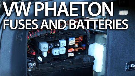 batteries fuses  relays  vw phaeton
