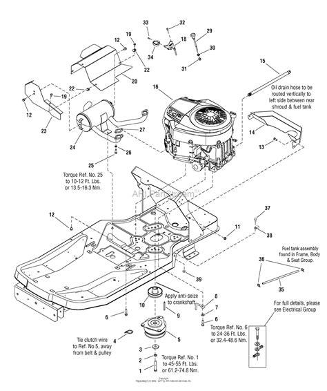Sear 26 Kohler Engine Electrical Diagram by Murray 7800340 107 287910 Zts 7500 26hp Kohler W 50
