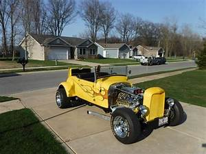 1929 Ford Coupe Yellow Flaming Hot Rod 350 Chevy For Sale