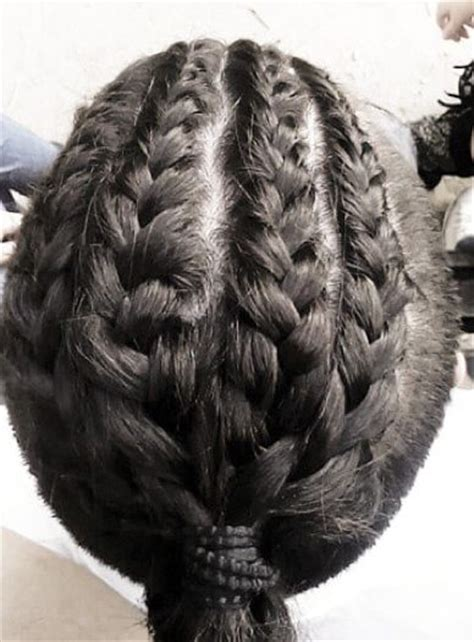 braided man bun hairstyle guide  pictures long hair guys