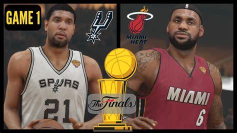 nba finals heat  spurs game  sim nba  ps