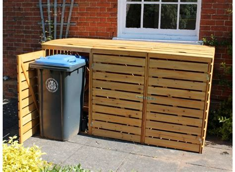 eco triple wheelie bin cover house   shed plans
