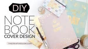 designer notebook diy notebook cover design gold leaf designer look