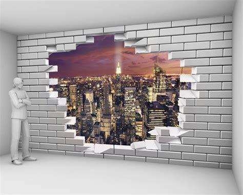 yeda design papier peint mur de briques cass 233 new york de nuit 82 50 euros