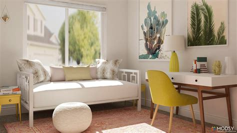 Decorating Ideas For Small Guest Room by Simple Office Meets Guest Room Decorating Ideas Modsy
