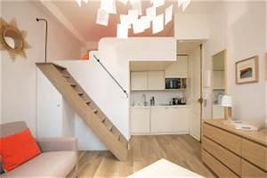 Studio Mezzanine Paris : gain de place studio elegant toujours with gain de place ~ Zukunftsfamilie.com Idées de Décoration