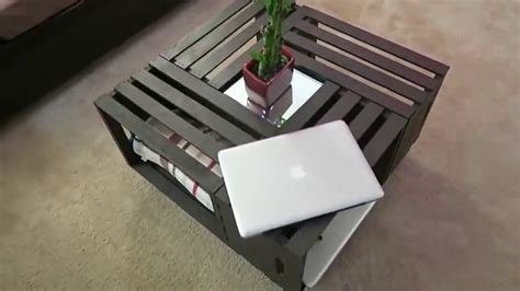 diy coffee table wooden crates youtube