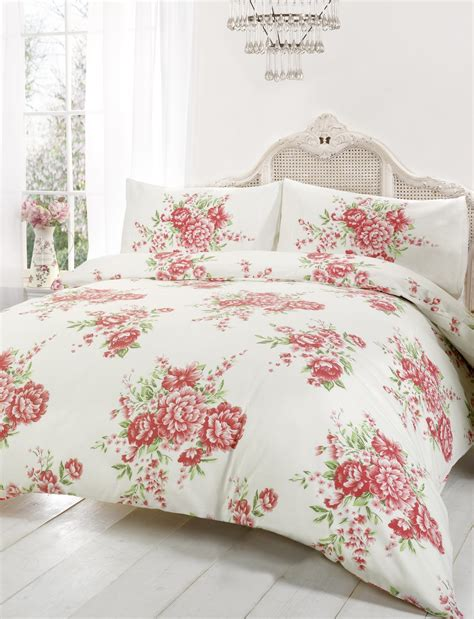 shabby chic comforters floral duvet cover in kingsize flowery bed