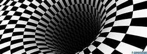 trippy black and white checkers pattern Facebook Cover ...