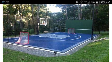 multi sport court  court bball hockey nets tennis