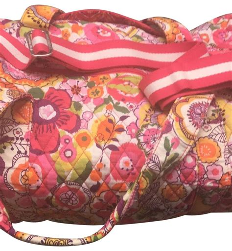 vera bradley clementine from 2014 collection pink multi weekend travel bag tradesy