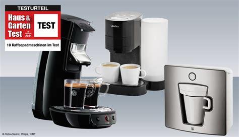 10 Kaffeepadmaschinen Im Test  Haus & Garten Test