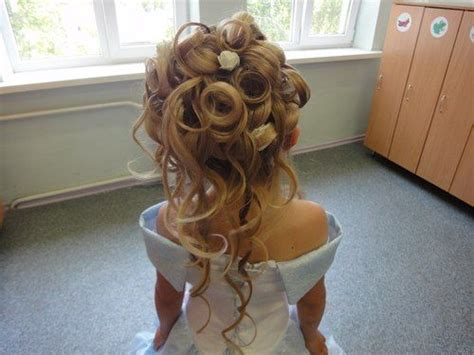 Curly Wavy Updo For Little Girls