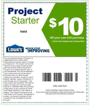 printable home improvement lowes    coupons