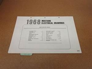1968 Ford Mustang Wiring Diagram Sheet Schematics Service