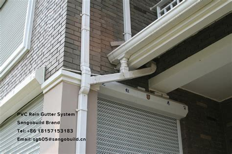Pvc Vinyl Roof Gutter Material Plastic Channel Water