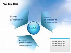 Powerpoint Slide - Converging Radial Diagram - 3 Arrows