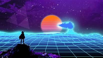 Vaporwave Zelda Background Outrun Backgrounds Legend Retrowave