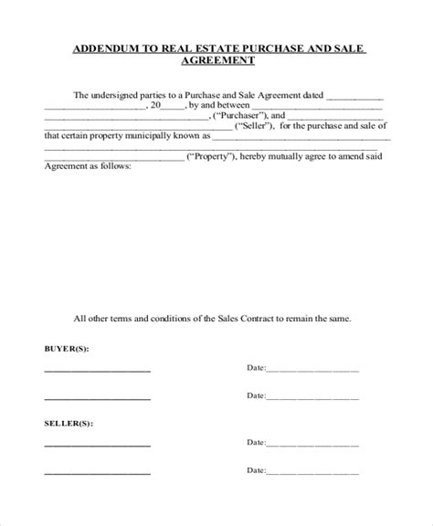 sample real estate sales contract forms