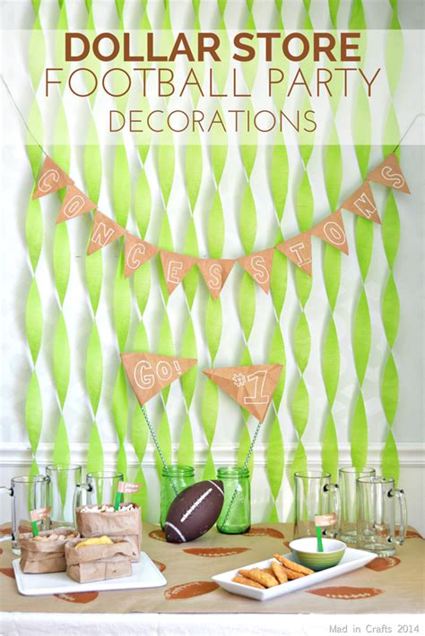 Football Decorations - dollar store football decorations in crafts