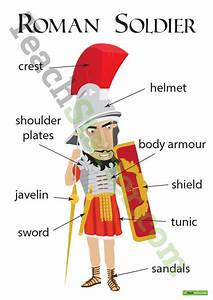 Roman Soldier With Labels Worksheet Teaching Resource