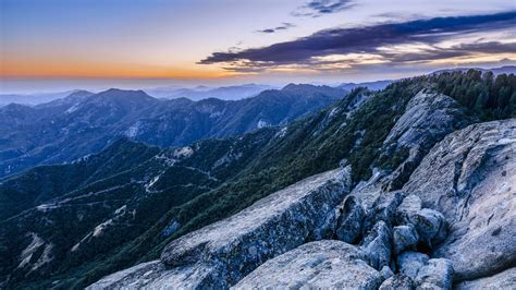 View From Moro Rock At Dusk, Sequoia National Park