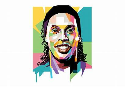 Vector Portrait Ronaldinho Wpap Popart Pop Pitt