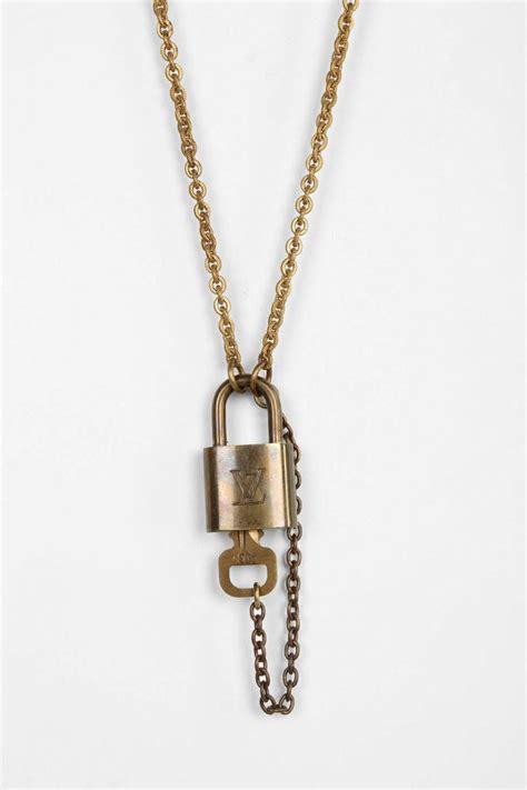 easy diy louis vuitton lock necklace lollipuff