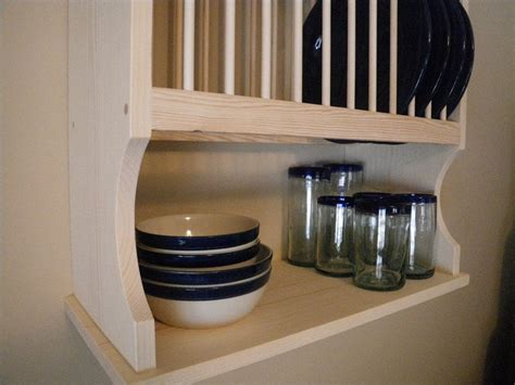 wall mounted  plate rack  nicoletwoodproducts  etsy