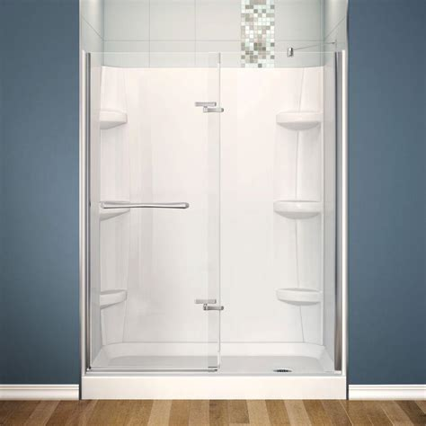 Maax Shower Stalls Installation - maax reveal 30 in x 60 in x 76 1 2 in shower stall in