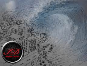 How to Draw a Easy Tsunami Wave