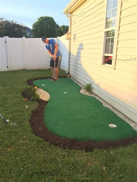 small backyard putting green backyard ideas for small yards to diy this spring