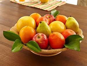 Wooden, Fruit, Bowl, With, Honeybells