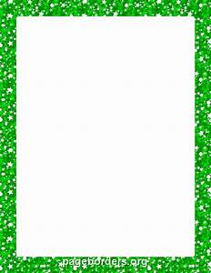 Printable green glitter border. Use the border in ...