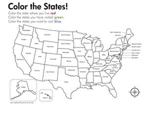 geography color the states worksheet education com