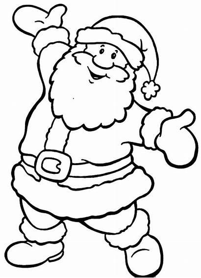 Claus Santa Coloring Christmas Pages Because Drawing